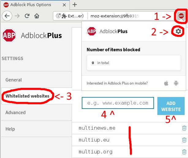 Tutorial to disable AdBlock